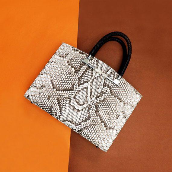 Jira – Large Yoko Handbag in Nature Python