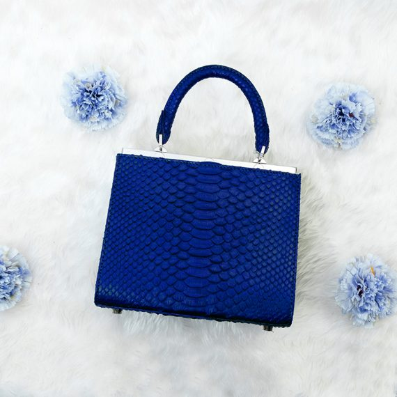 Jira – Small Amy in Royal Blue Python