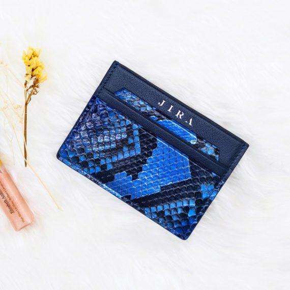 Double Card Holder – Alien Blue Python